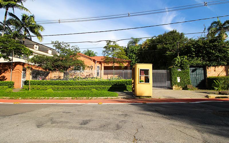 Guarita de segurança privada no bairro Jardins